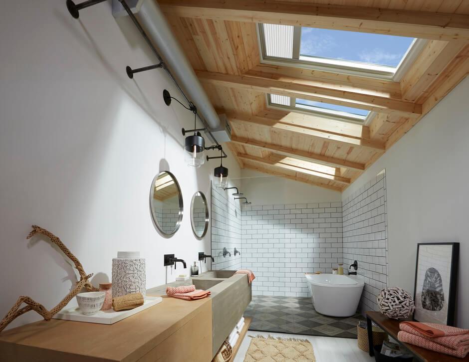 Bad Im Dachgeschoss Einrichten Velux Magazin