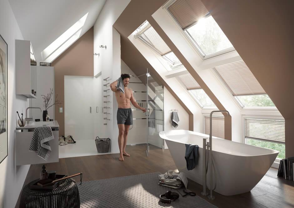 Bad im Dachgeschoss einrichten | VELUX Magazin