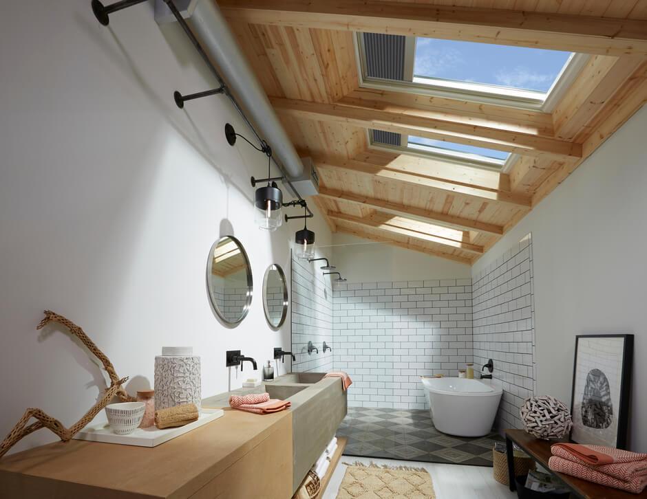 Fliesen An Dachschragen Richtig Anbringen Velux Magazin