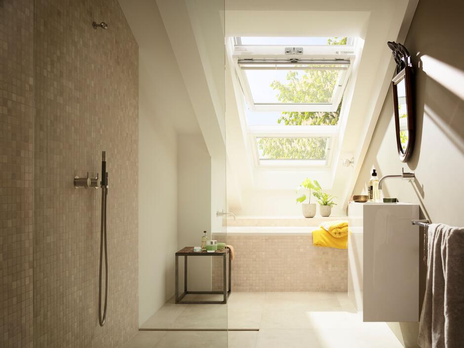 Kleines Bad Mit Dachschrage Velux Magazin