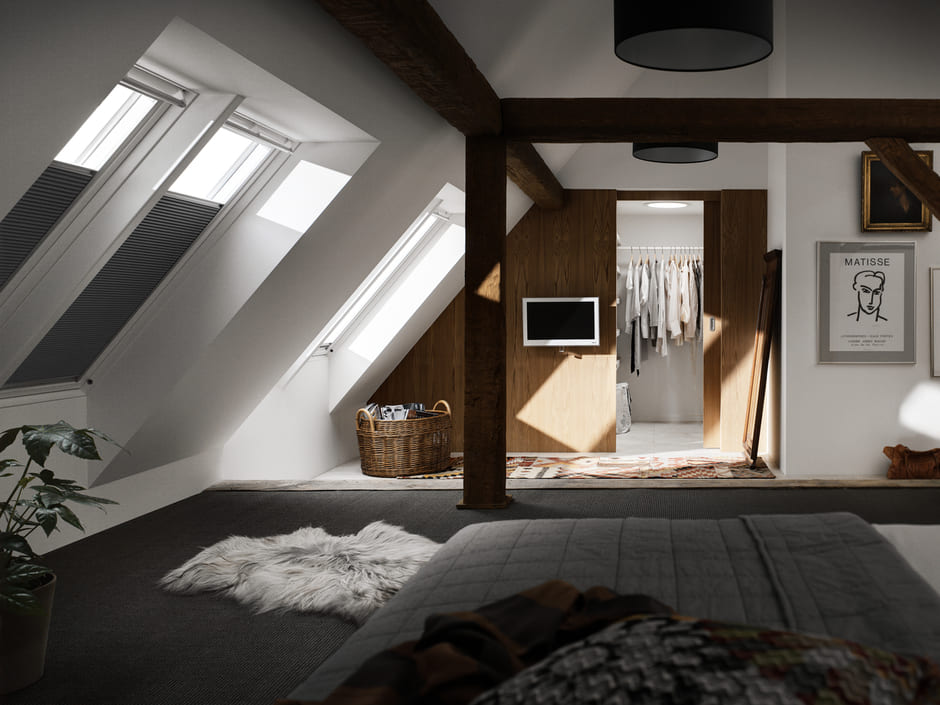 Begehbarer Kleiderschrank Unter Dachschrage Velux Magazin