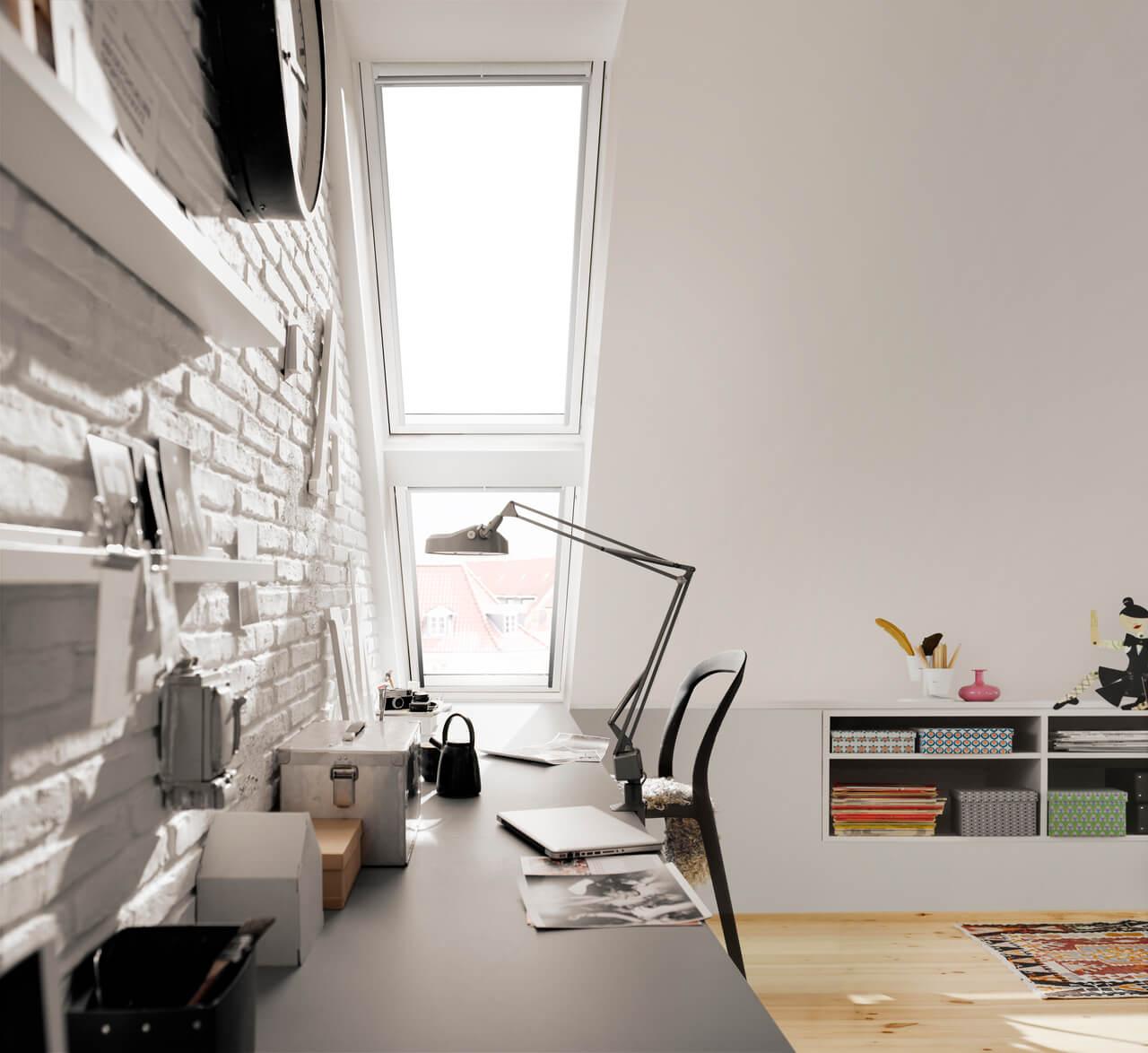 Schreibtisch Unter Der Dachschrage Einrichten Velux Magazin
